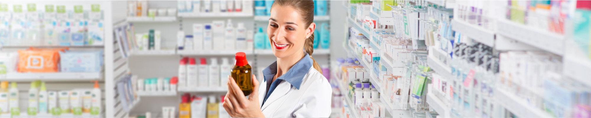 Portrait of a Female pharmacist smiling